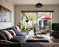 grey couch bungalow - Google Search