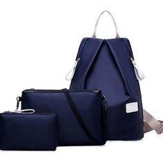 878008d724b1 Hot Fashion Waterproof Women Backpack Shoudler Bag Simple Rucksack Girl  School Book Satchel 3Pcs Set