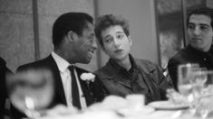 two of my heroes sitting together in 1963: James Baldwin and Bob Dylan