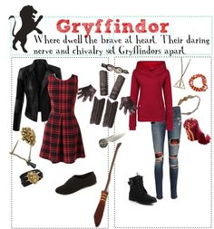 """""""DIY Halloween Costume: Gryffindor"""" by fandoms-unite-3947 ❤ liked on Polyvore"""