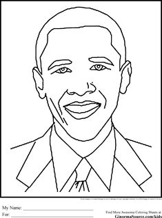 black history coloring pages obama is the forty second president of the united states of america president barrack obama - Barack Obama Coloring Book