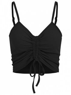 Product Drawstring Ruched Crop Cami Top available for Zaful WW, get it now ! Cropped Cami, Cami Crop Top, Cami Tops, Bikini Sets, Push Up Bikini, Cute Crop Tops, Black Crop Tops, Mode Top, Pullover Hoodie