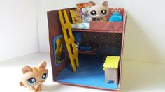 How to Make an LPS Micro Bedroom for Boy or Girl: Dollhouse DIY