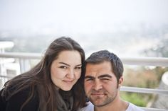 Brother & Sister at the Getty Image in LA