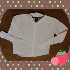 Ralph Lauren Sport white long sleeves shirt Slim fit size MM gentle ware good condition Ralph Lauren Tops