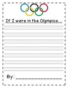 Olympics Writing FREEBIE