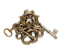 #Steampunk Pin Steampunk Hat Pin Octopus by VictorianCuriosities, $45.00