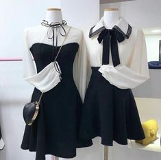Find images and videos on We Heart It - the app to get lost in what you love. Kpop Fashion Outfits, Ulzzang Fashion, Korean Outfits, Fashion Dresses, Fasion, Pretty Outfits, Stylish Outfits, Beautiful Outfits, Cute Outfits