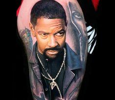 Tattoo photo - Training Day movie tattoo by Steve Butcher Tattoo Images, Tattoo Photos, Black Love Artwork, Washington Tattoo, Training Day Movie, Body Art Tattoos, Cool Tattoos, Steve Butcher Tattoo, Game Of Thrones Tattoo