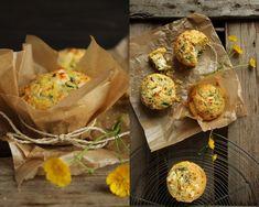 Polenta, ramps and feta muffins / Polenta Bärlauch Muffins & Feta Creme, {flowers on my plate}