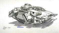 """gameraboy: """"Snowspeeder concept art by Ralph McQuarrie and Joe Johnston from February, 1978 for The Empire Strikes Back. Star Wars Ships, Star Wars Art, Anubis, Futuristic Cars, Futuristic Vehicles, Joe Johnston, Mandalorian Armor, Star Wars Vehicles, Star Wars Concept Art"""