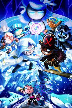 Shark Cookies, Cute Cookies, Cookie Run, Cookie Time, Dragon Cookies, Strawberry Cookies, Cute Anime Pics, Cookie Designs, Cute Characters