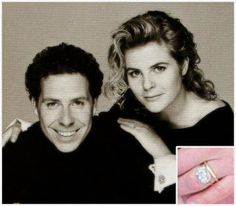 Viscountess Linley Princess Margaret's son, David, gave Serena Stanhope a diamond ring on a delicate gold band and a gold wedding band, both from Wartski.
