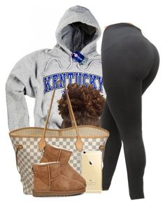 Untitled #507 by princess-miyah ❤ liked on Polyvore featuring Louis Vuitton and UGG Australia