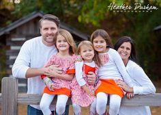 Family portraits sitting on a fence • Heather Durham Photography •Birmingham, AL family & kids photographer