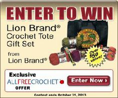 The Lion Brand Crochet Gift Set is a great set for every crocheter. Giveaway compliments of Lion Brand and AllFreeCrochet