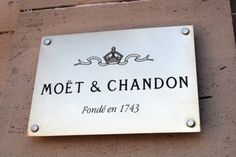 Moet & Chandon, Epernay, France.  Proprietors of Dom Perignon and Nectar Imperial.  Both Yummy!