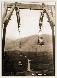 The first ski chair lift in North America - Pico Mountain- Killington, VT