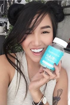 Katrina adores how cute and sweet our hair vitamins are! She especially loves how effective they are in growing out her hair.