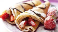 strawberry banana nutella crepe yummm