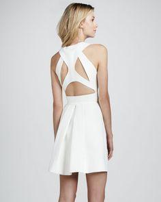 Fot dressing up, Robert Rodriguez Sleeveless Cutout-Back Dress - Neiman Marcus, The sweetest white summer dress! 595.00$