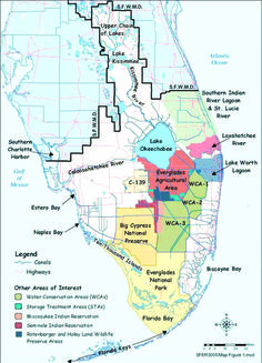 Southern third of the Florida Peninsula showing the area managed by