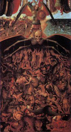 The Crucifixion The Last Judgment Jan van Eyck and Workshop Assistant The Crucifixion The Last Judgment 33 Jan Van Eyck, Renaissance Kunst, Renaissance Paintings, Fantasy Kunst, Fantasy Art, Satanic Art, Occult Art, Biblical Art, Arte Horror