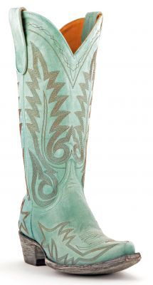 Womens Old Gringo Nevada Boots Aqua #L175-352 via @allen sutton Boots