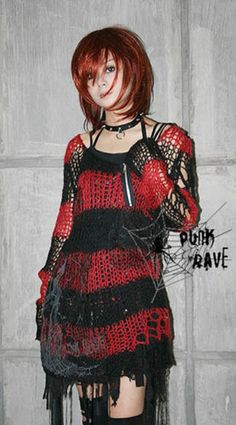 Visual Kei Punk Gothic Kimono Lolita Nana Black Red Coat...who would go shopping and actually buy this?