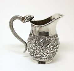Gorgeous silver snake cream pitcher!
