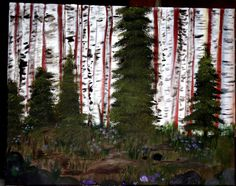 Birch Grove Oil painting 16x20in canvas Hand-painted Original Artwork by smARTartBYMcSwish on Etsy
