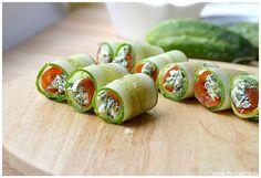 Рулетики из кабачков Cucumber, Sushi, Food And Drink, Vegetables, Ethnic Recipes, Essen, Vegetable Recipes, Zucchini