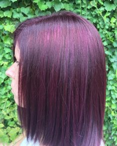 Fiery Red Violet Balayage