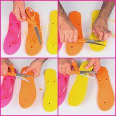 Mark Montano: Color Blocked Wedge Flip Flops DIY