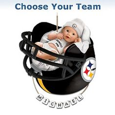 Gift Idea: Officially Licensed NFL Personalized Baby's First Christmas Ornament
