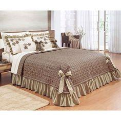 Colcha Casal Queen Doce Lar 100 Algodão 150 Fios com 02 Almofadas - Tabaco Decor, Bed Cover Design, Bed Decor, Bedding Sets, Designer Bed Sheets, Bedroom Decor, Soft Furnishings, Daybed Sets, Home Decor