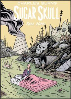 Sugar Skull by Charles Burns Gravure Illustration, Illustration Art, Album Tintin, Blake Et Mortimer, Ligne Claire, Comic Styles, Comic Style Art, Book Images, Comic Artist