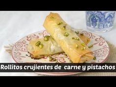 Cuuking! Recetas de cocina: Rollitos crujientes de carne y pistachos. Briouats