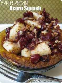 Apple Pecan Acorn Squash