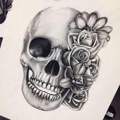 20 Meilleures Images Du Tableau Dessin Tete De Mort Tattoo