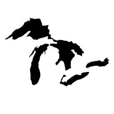 Great Lakes Outline Made Die-Cut Decal Car by BeeMountainGraphics