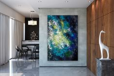 Items similar to Large Abstract Canvas Art,Extra Large Abstract Canvas Art,painting on canvas,modern abstract,extra large wall art on Etsy Large Abstract Wall Art, Large Painting, Textured Painting, Painting Art, Art Paintings, Abstract Paintings, Oversized Canvas Art, Bright Paintings, Art Original