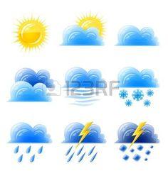 Weather Symbols For Kids, Weather For Kids, Montessori Activities, Preschool Activities, Teaching Weather, Seasons Activities, Wow Facts, Diy Notebook, Class Decoration