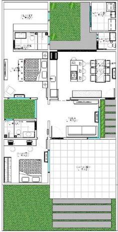 Atrium House, Courtyard House Plans, Facade House, House Facades, Modern Architecture House, Futuristic Architecture, Chinese Architecture, Modern Houses, Apartment Floor Plans