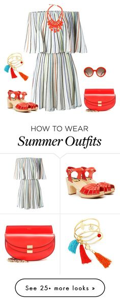 """""""outfit 4280"""" by natalyag on Polyvore featuring M Missoni, Swedish Hasbeens, Chloé and Alexander McQueen"""