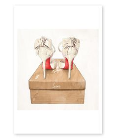 Oliver Gal Wedbliss Shoes Wall Art Print by Oliver Gal #zulily #zulilyfinds