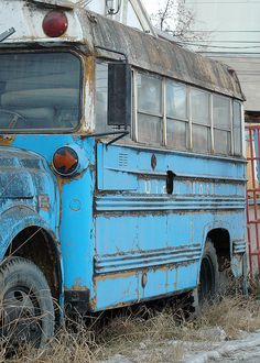 Blue school | The Old (Blue) School Bus | Flickr - Photo Sharing!