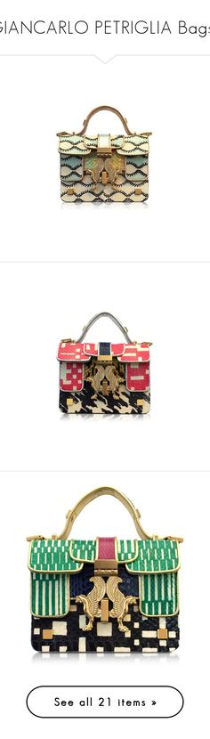 """GIANCARLO PETRIGLIA Bags..."" by desert-belle ❤ liked on Polyvore featuring bags, handbags, pink leather purse, mini purse, locking purse, 100 leather handbags, pink leather handbags, purses, man bag and leather handbag purse"