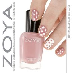 lunares palo rosa y blanco