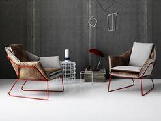 Poltrona imbottita con braccioli Collezione New York by Saba Italia | design Sergio Bicego